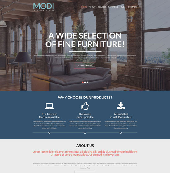 modi wordpress company theme