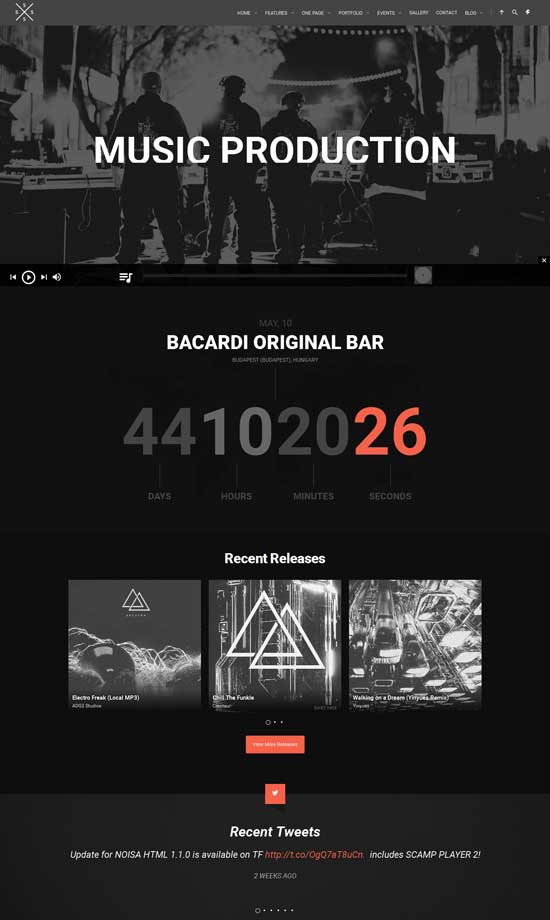 SPECTRA - Responsive Music WordPress Theme