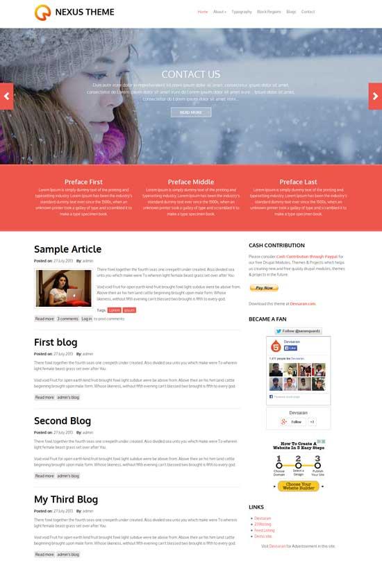 nexus free flat drupal theme