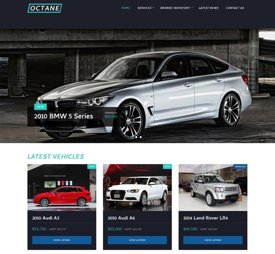 Octane - Mobil Dealer Tema