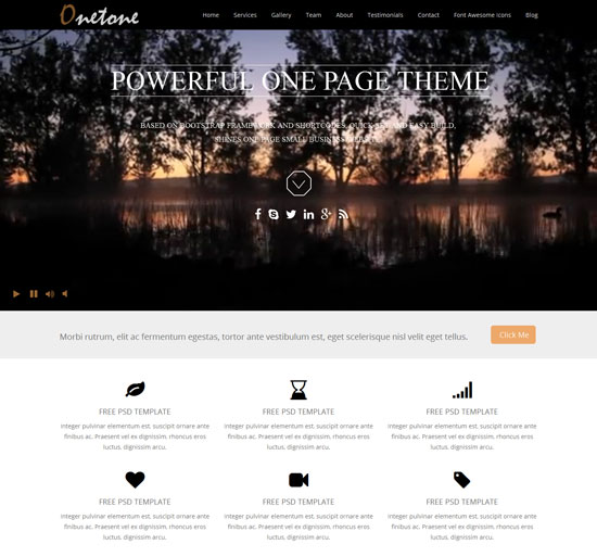 onetone wordpress one page theme