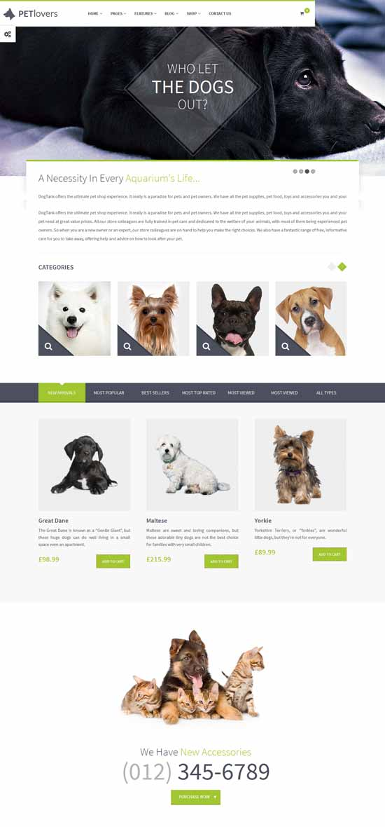 Pet Shop eCommerce WP Theme
