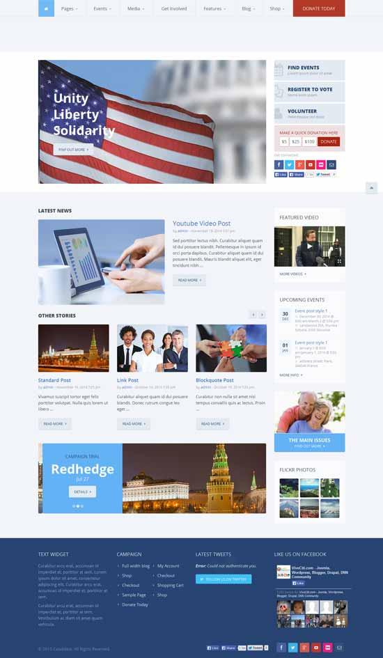 Candidate – Political WordPress Theme