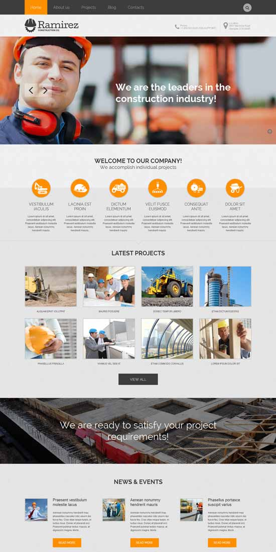 pro-contractor-construction WordPress theme