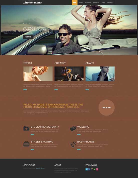 pro photography responsive drupal theme