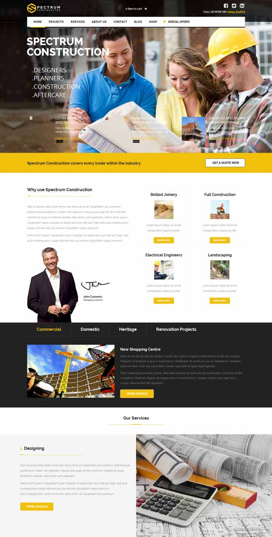 pro-spectrum-construction WordPress theme