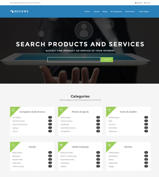 Reviews - Products And Services Review Ads WP Theme