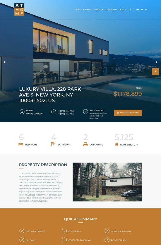 real estate elementor wordpress theme