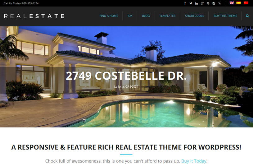 50 Best Real Estate Wordpress Themes Free Premium Freshdesignweb