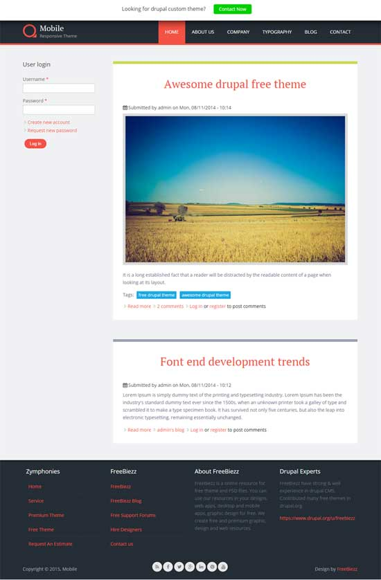 Mobile responsive theme - responsive drupal theme