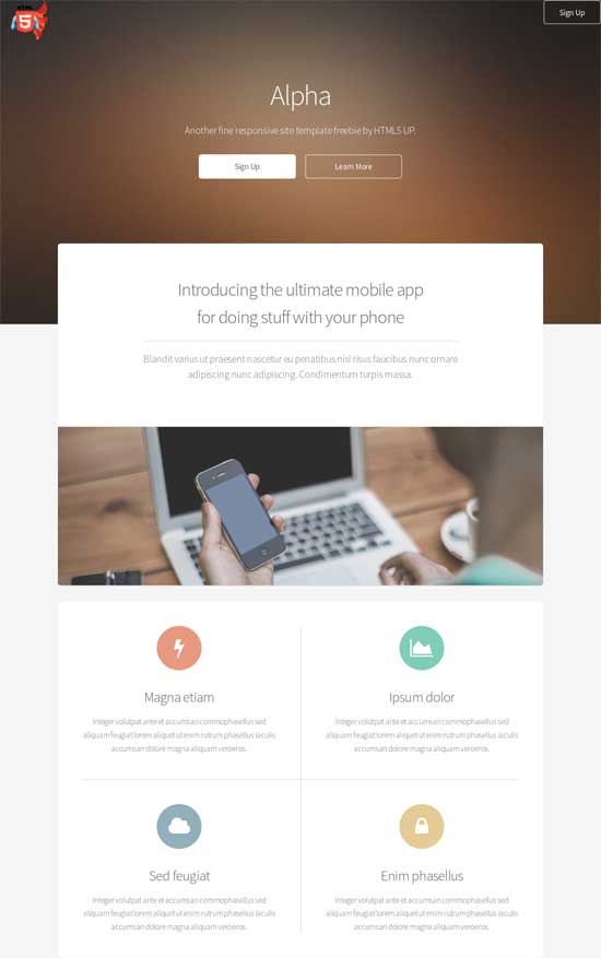 simple html5 new responsive drupal theme