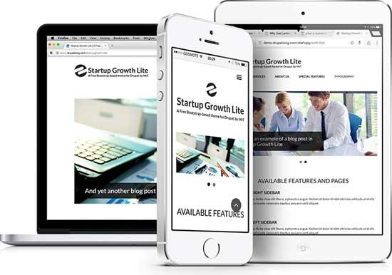 Startup Growth Lite free Bootstrap drupal theme