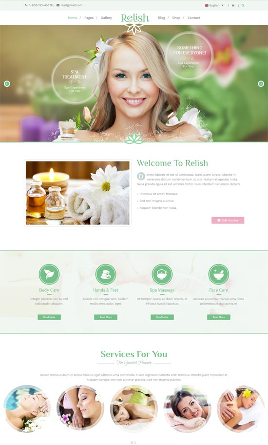 Relish - Spa Salon WordPress Theme