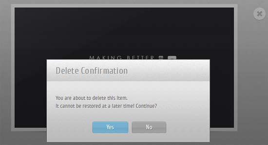jQuery Confirm Dialog Replacement with CSS3