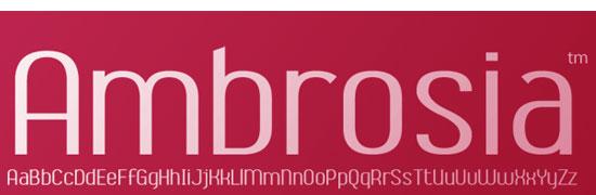 Abrosia - free fonts designers