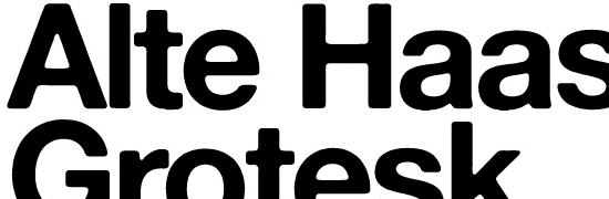Alte Haas Grotesk - free fonts designers