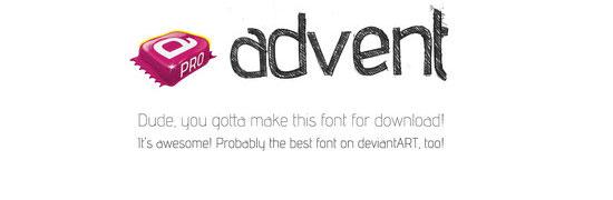 advent - free halloween fonts