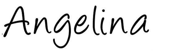Angelina - free halloween fonts