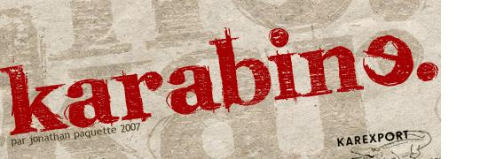 Karabine - free truetype fonts