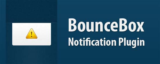 BounceBox Notification Plugin With jQuery & CSS3