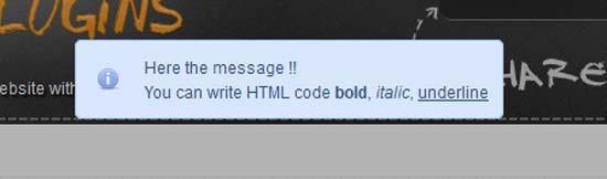 jNotify jQuery Notification Plugin