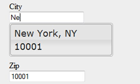 Using jQuery UI's Autocomplete to Populate a Form