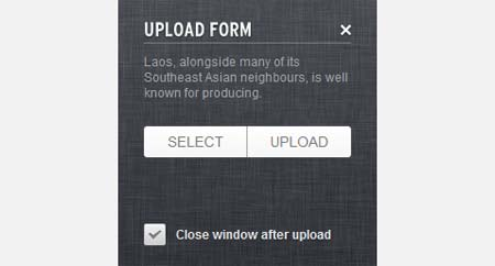Upload Form using jQuery, CSS3, HTML5 and PHP