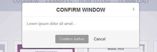 Simple Modal jQuery Alert, Confirm Window