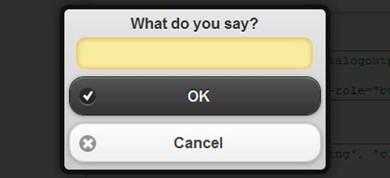 A Popup Dialog Box for jQuery Mobile