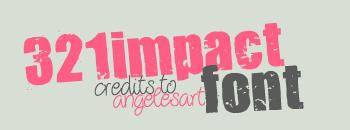 cool free fonts 321 Impact Font