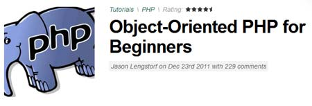 Object-Oriented PHP for Beginner