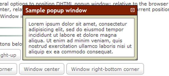 Popup Window script in Javascript