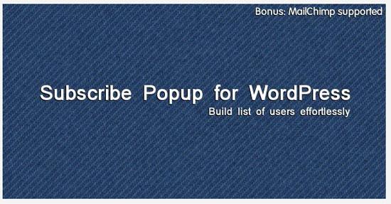 Premium jQuery Subscribe Popup