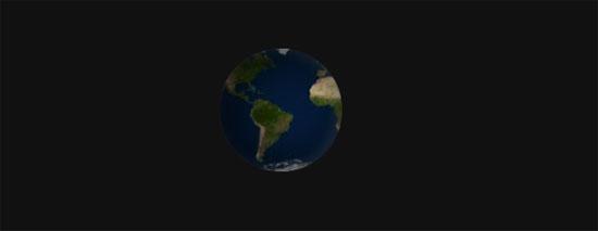 3d revolving planet using css3
