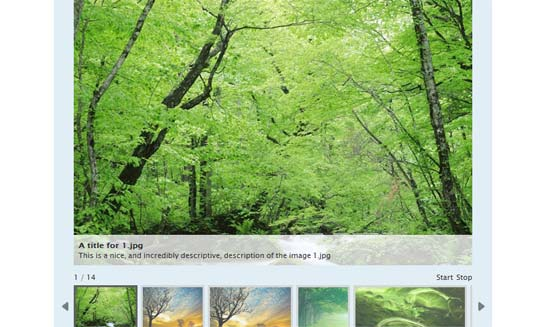 AD Gallery, gallery plugin for jQuery