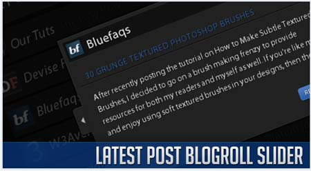 Latest Post Blogroll Slider with jQuery and PHP