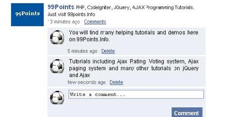 Facebook Style Wall and Comments Post using jQuery PHP and Ajax