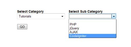 Dynamic Loading of ComboBox using jQuery and Ajax in PHP