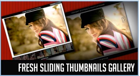 resh Sliding Thumbnails Gallery with jQuery and PHP