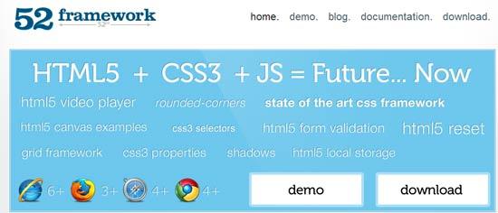 html5 framework - 52framework