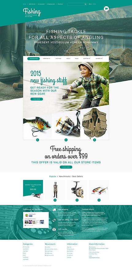 Fishing PrestaShop Theme