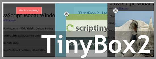 TinyBox 2 javascript modal windows