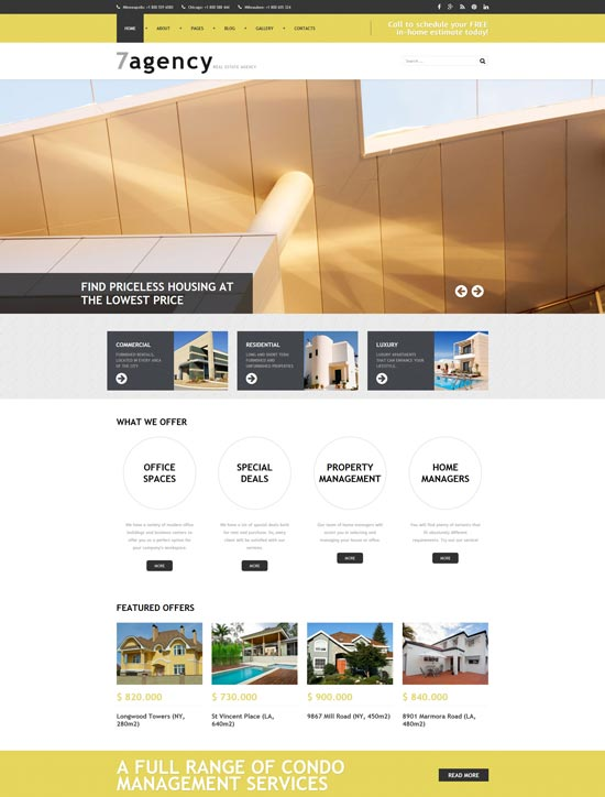 7agency real estate responsive joomla template