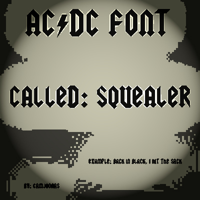 free beauty fonts ACDC font Called Squealer