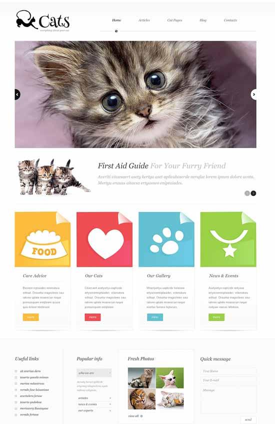 About-Cats-WordPress-Theme