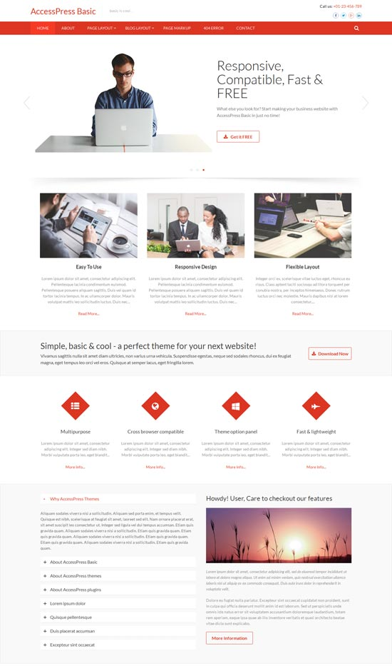 accesspress wordpress business theme