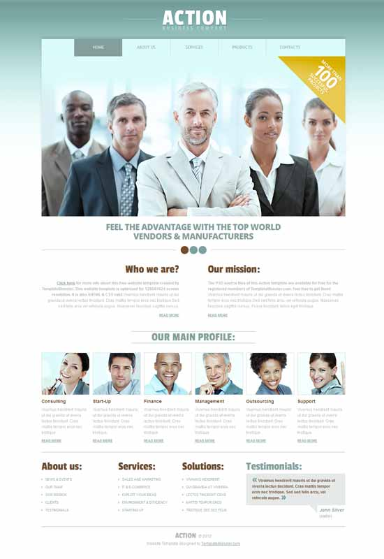 Action-Free-Business-Consulting-Website-Template