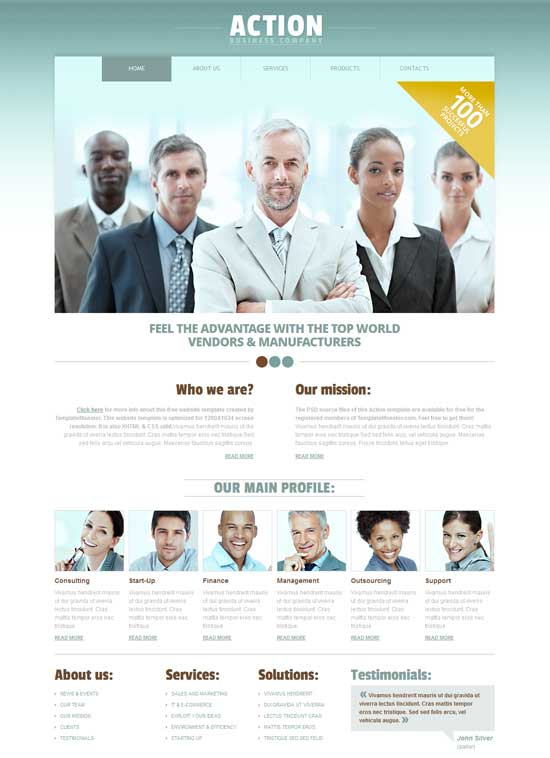 Action-Free-HTML5-Business-Website-Template