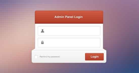 Admin-Panel-Login-PSD