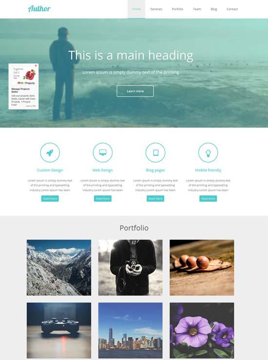 agency portfolio flat web template